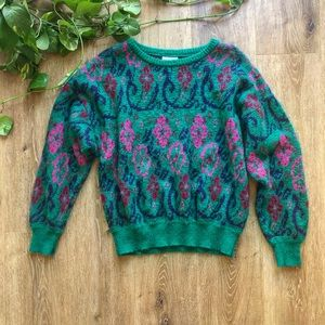 BENETTON VINTAGE MADE ITALY CHUNKY BOXY SWEATER 🦚